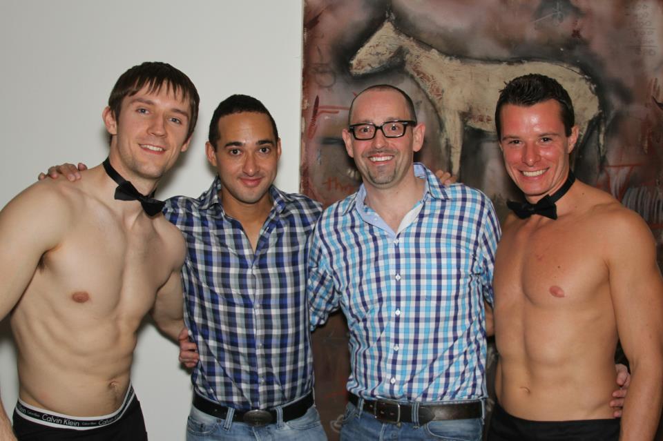 topless waiter bartender crewmen birthday party