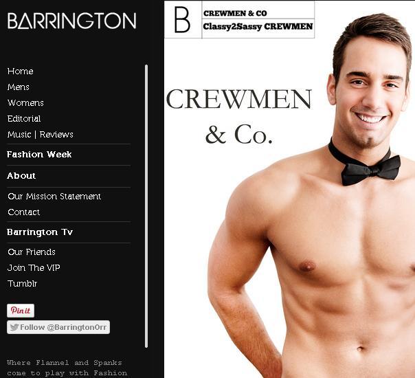 Barrington Orr and CREWMEN & Co. - shirtless bartenders